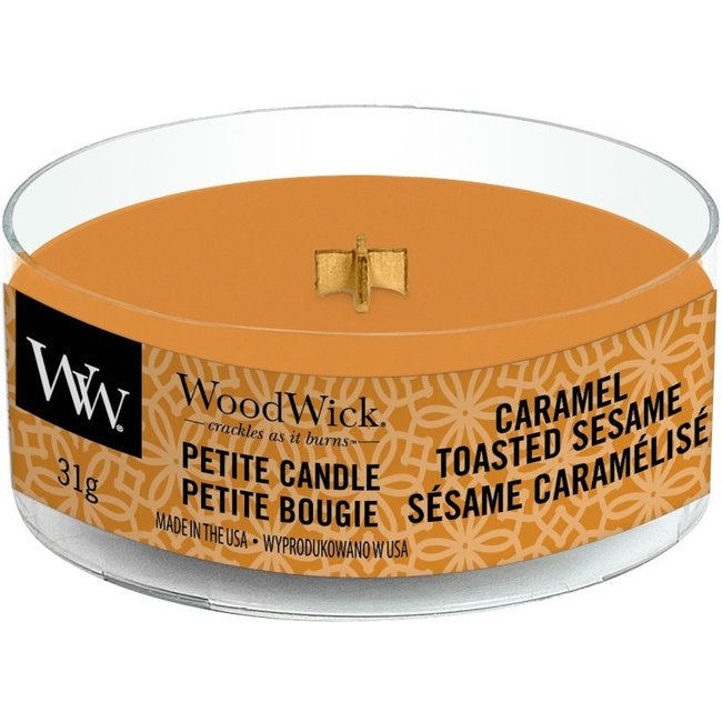 Woodwick Caramel Toasted Sesame Petite Travel Candle WoodWick© 8h