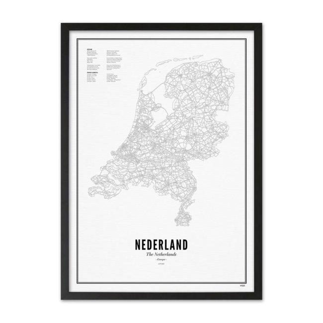 WIJCK. Poster Nederland 50x70cm