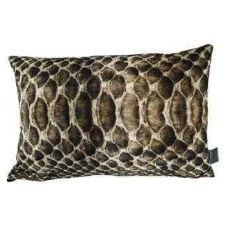 PTMD Loris gold printed cotton cushion M