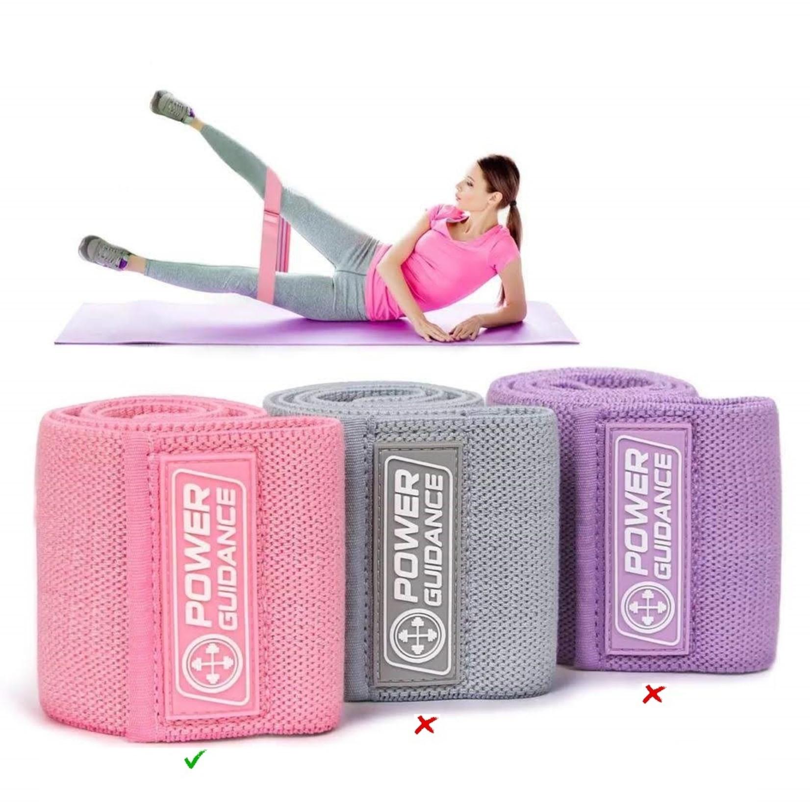 Jobber Fitness Weerstandsband Power Guidance roze 32 cm