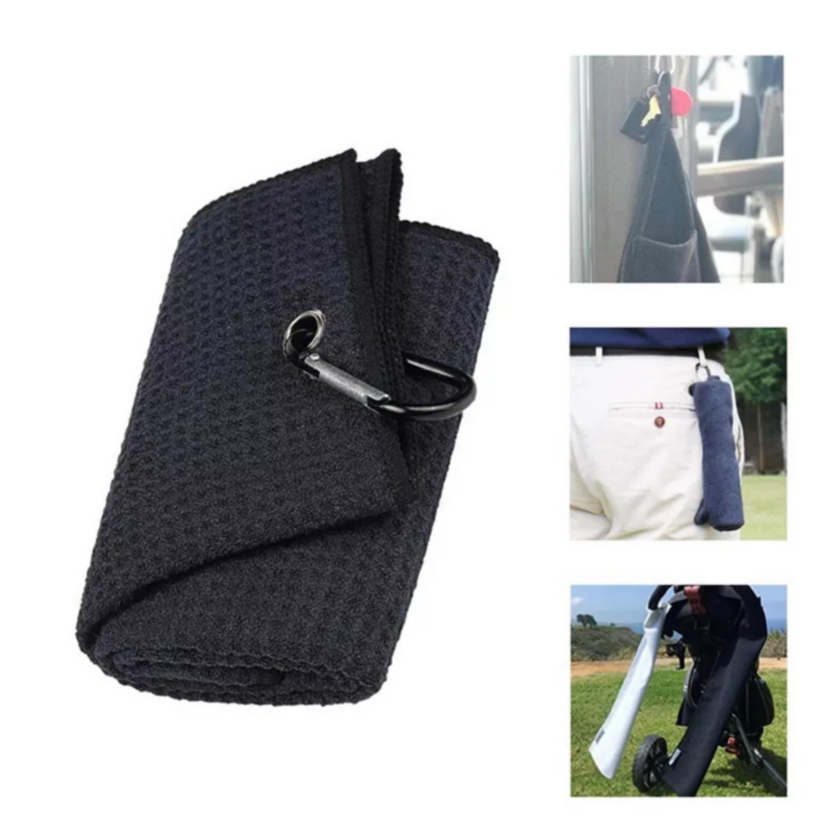 Jobber Golf Jobber Golf – Microfiber golfhanddoek sneldrogend (zwart)