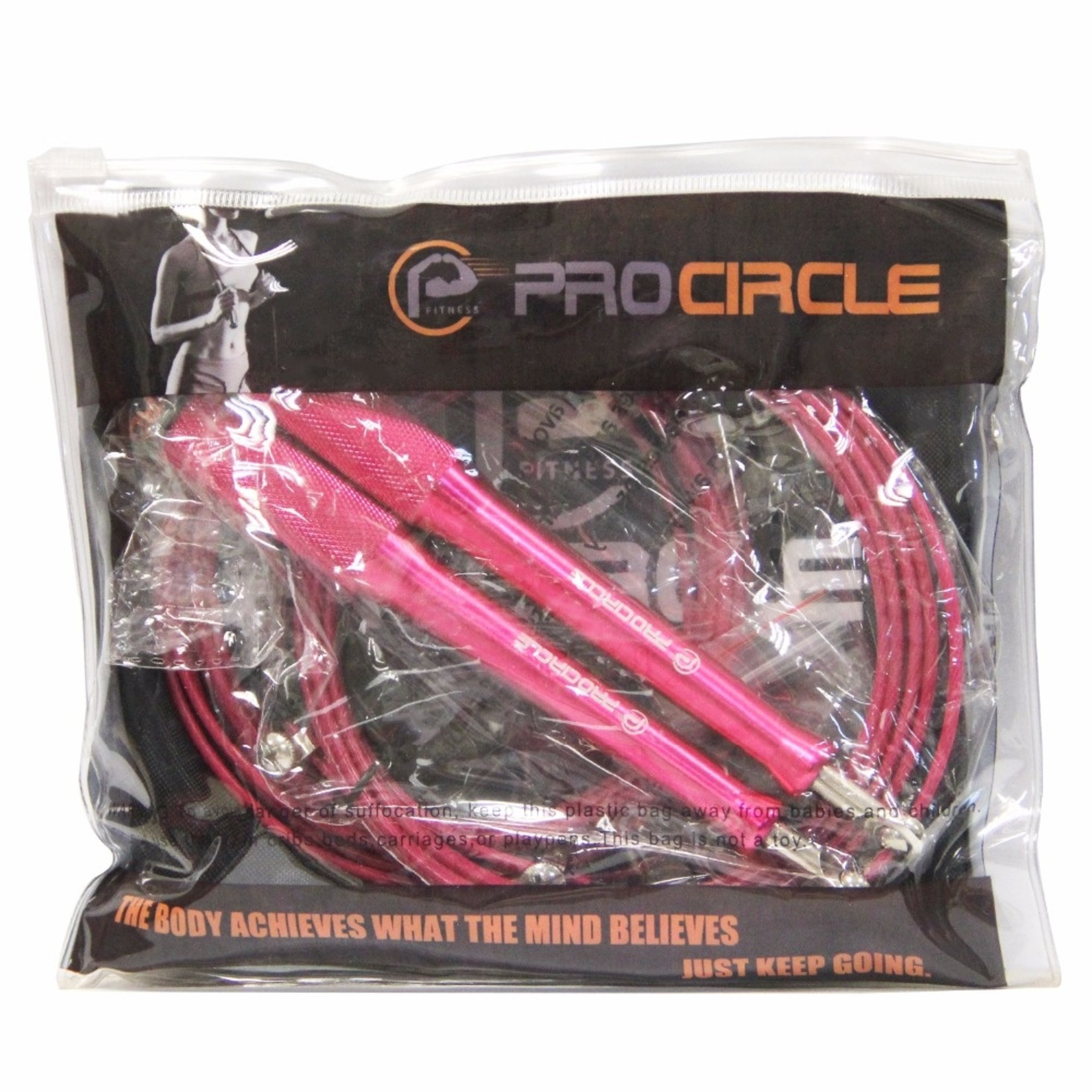 Jobber Ropes Jobber Ropes – Springtouw Seed 100% aluminium roze (300 cm)