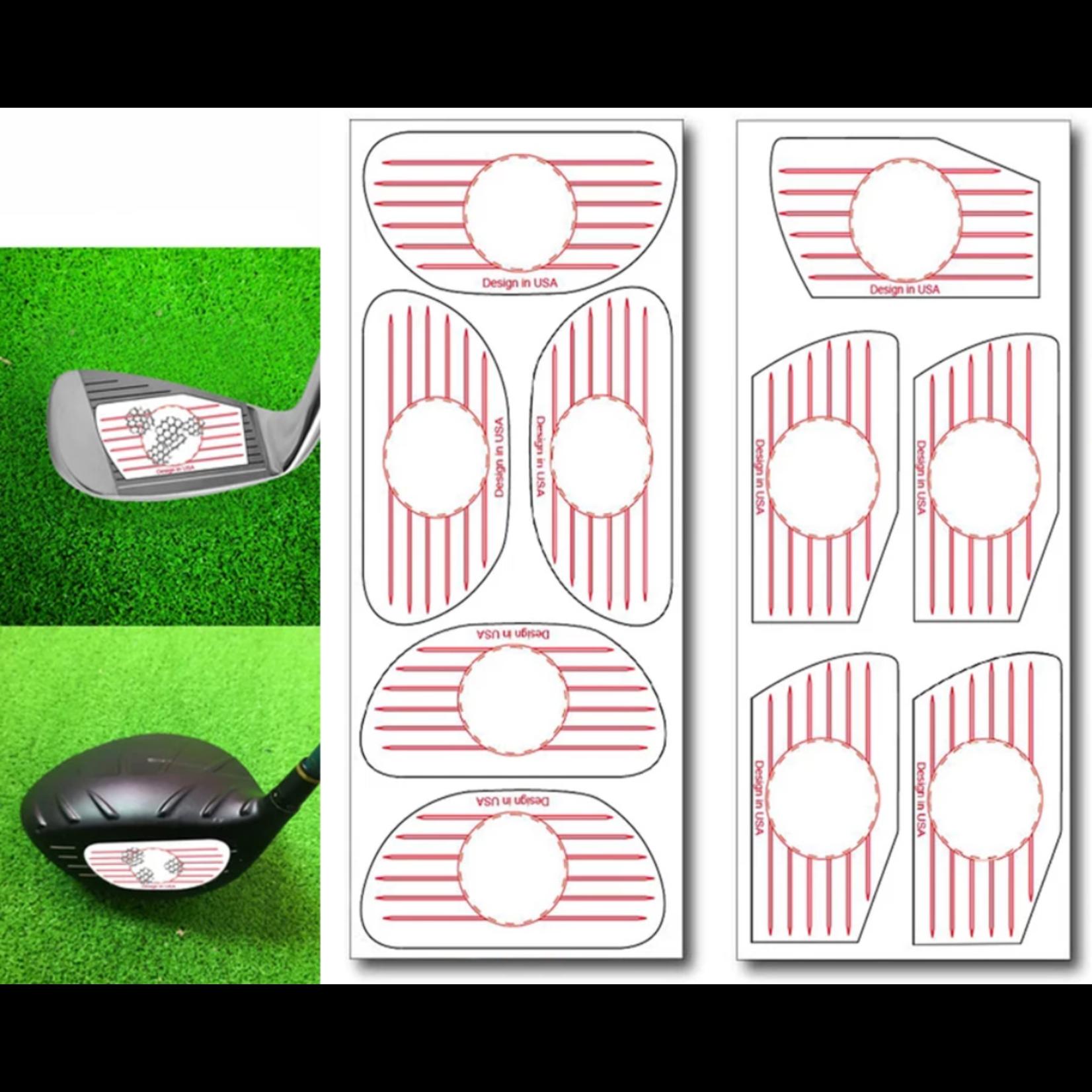 Jobber Golf Jobber Golf – Impact stickers golf trainingsmateriaal (50 stuks)