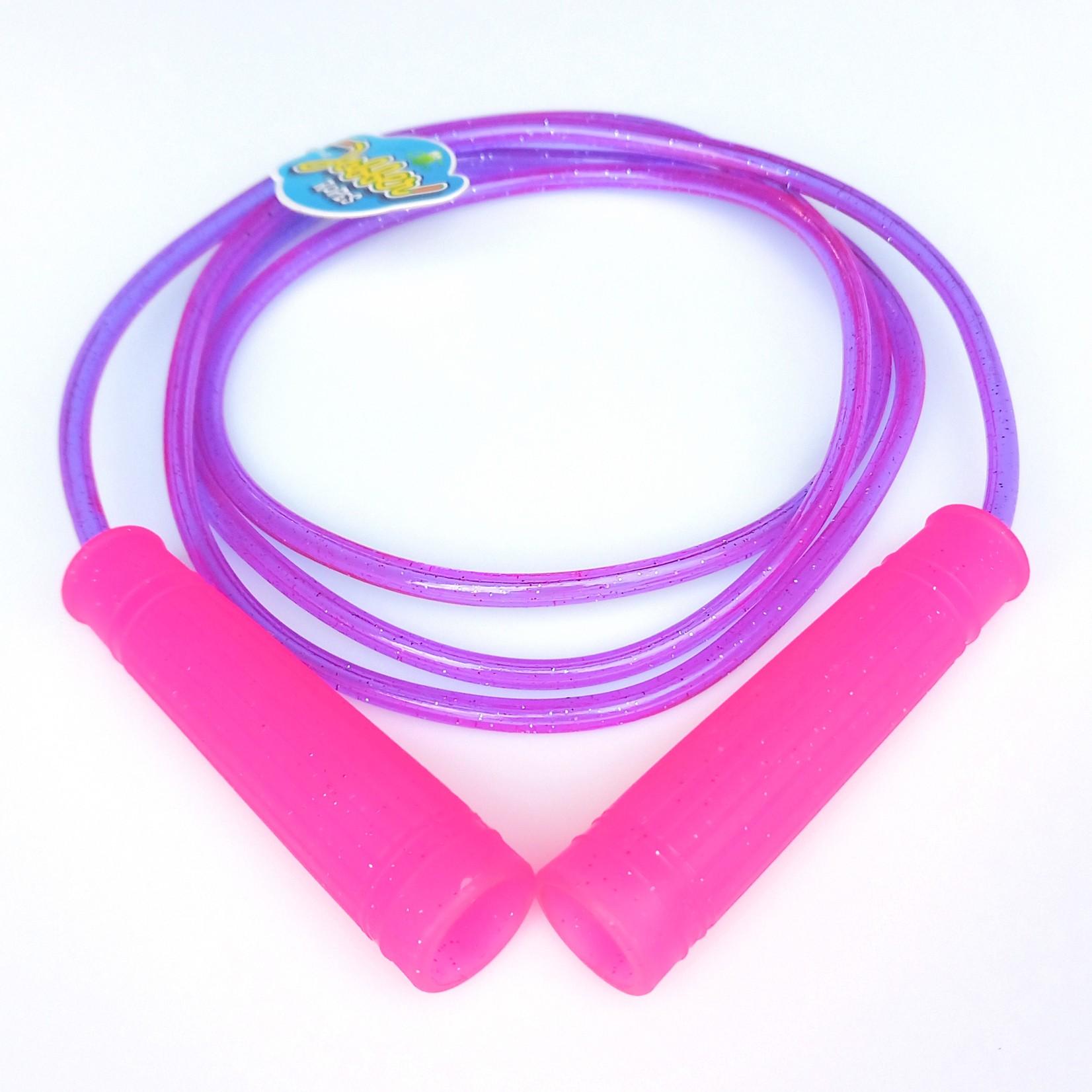 Jobber Ropes kids Jobber Ropes – Glitter springtouw kinderen (paars/roze)