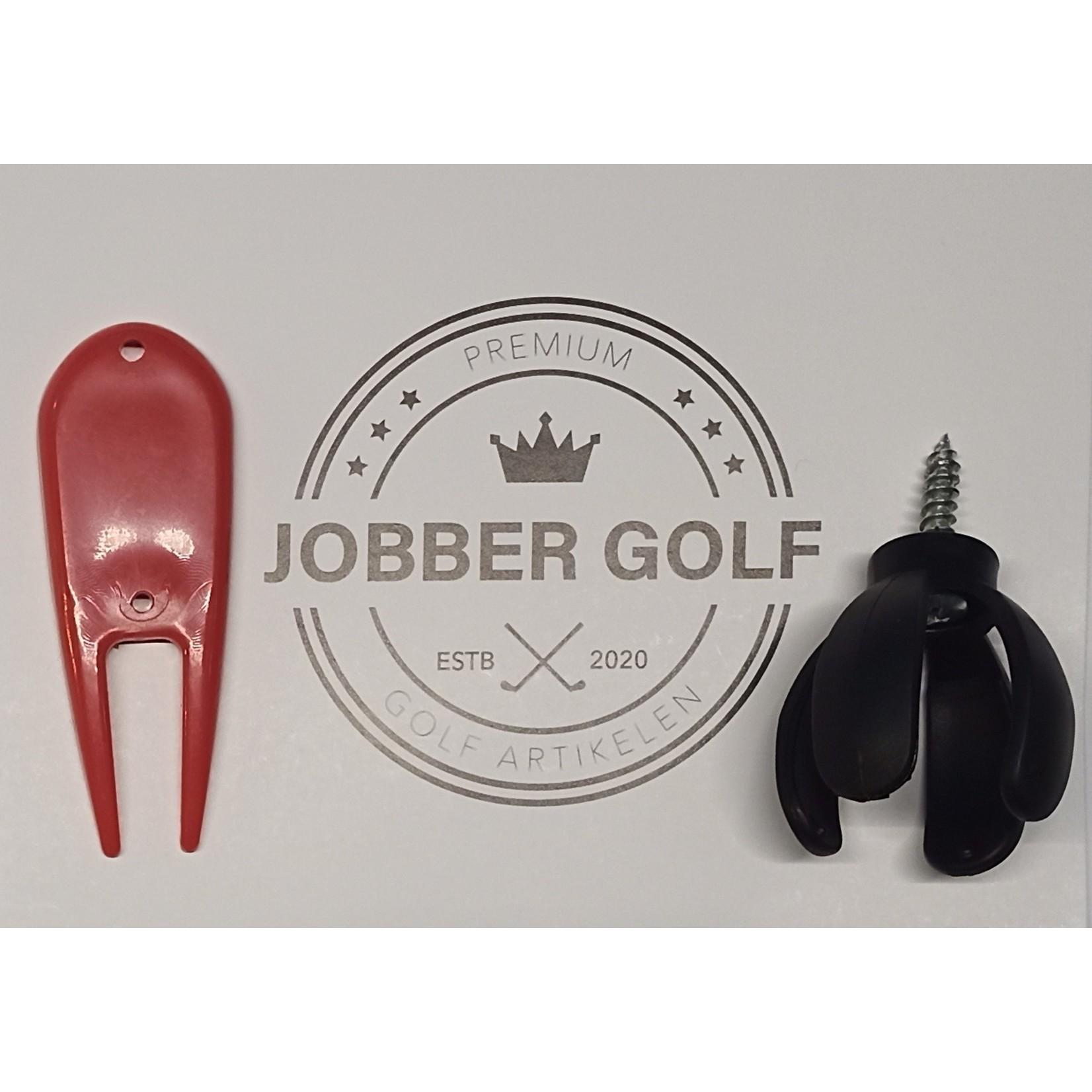 Jobber Golf Jobber Golf – Ballenklem / Golfballenraper + gratis pitchfork
