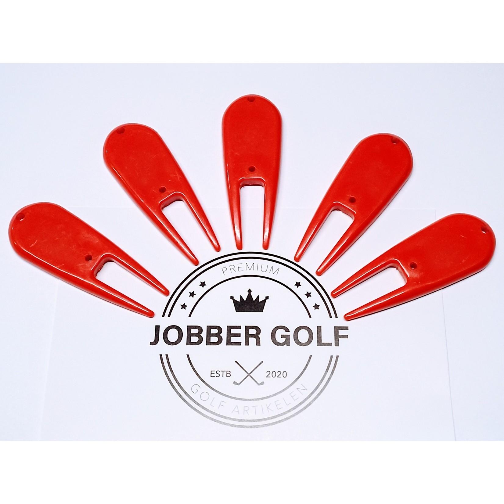 Jobber Golf Jobber Golf - 5x Pitchfork plastic (rood)