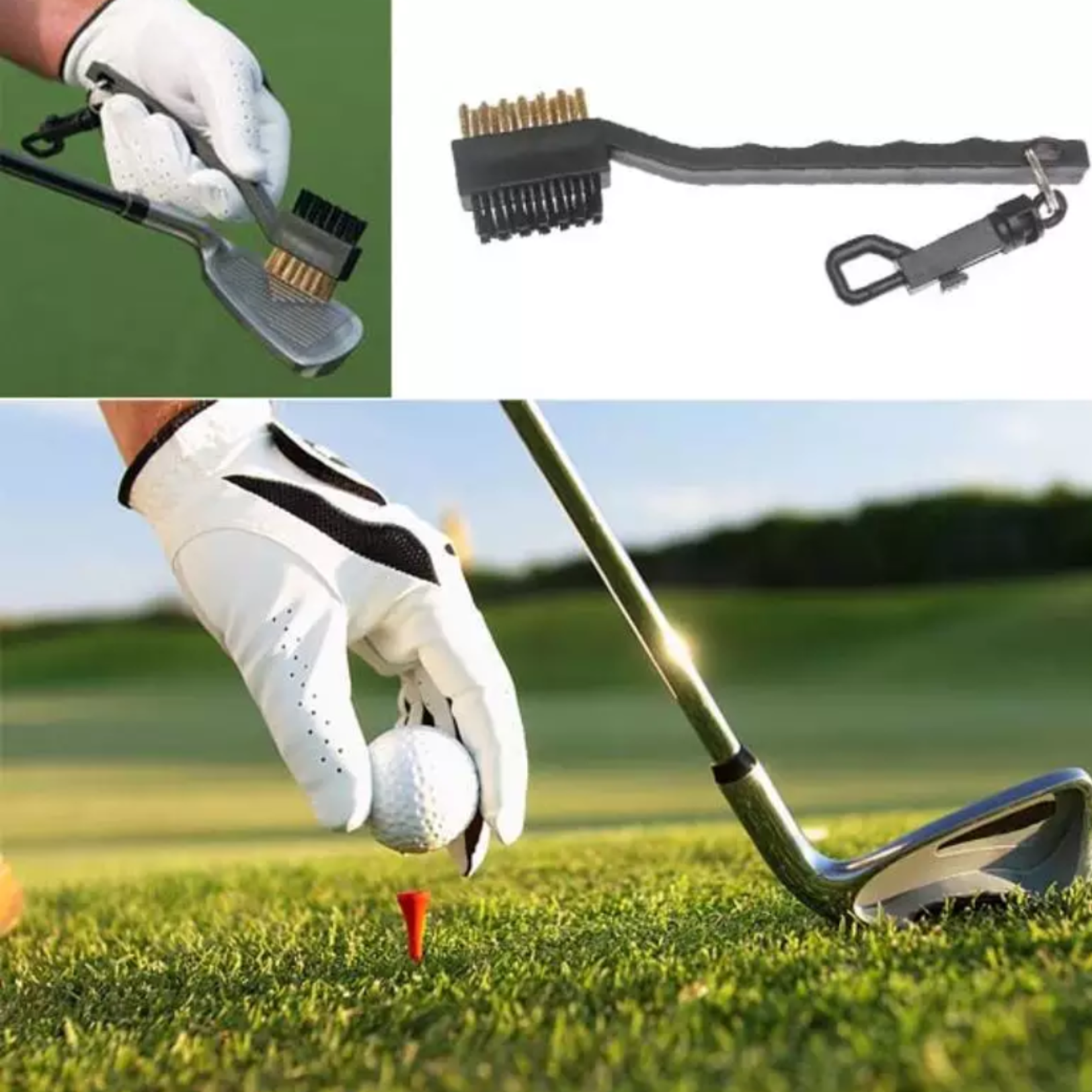 Jobber Golf Jobber Golf - 2 in 1 Multi Brush Club Cleaner / Golfclub borstel