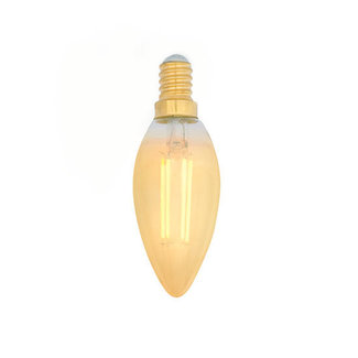 PURPL E14 LED Filament Bulb 2200K 5W Dimmable C35 Candle Amber