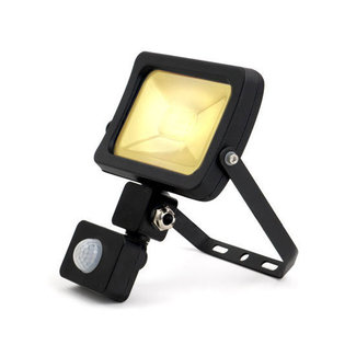 PURPL LED Floodlight with Sensor 10W 3000K Warm White IP44 Black