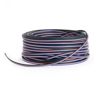PURPL LED Strip Extension cable 5 wire AWG22 RGBW 50 meter