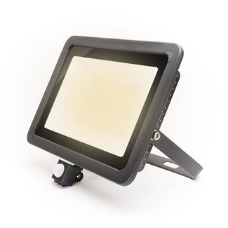 PURPL LED Floodlight with Sensor 100W Warm White IP44 Black