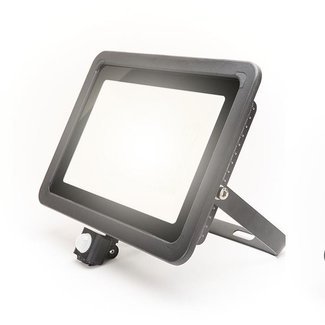 PURPL LED Floodlight with Sensor 100W Natural White IP44 Black