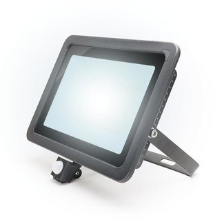 PURPL LED Floodlight with Sensor 100W Cold White IP44 Black