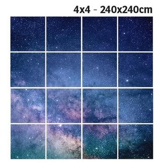 PURPL Star Ceiling B | Photographic Ceiling LED Panel | 60x60 - 62x62 - 30x120 | [IMG31]