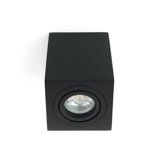 PURPL LED Ceiling Lamp GU10 Fixture Surface Mounted Square Black