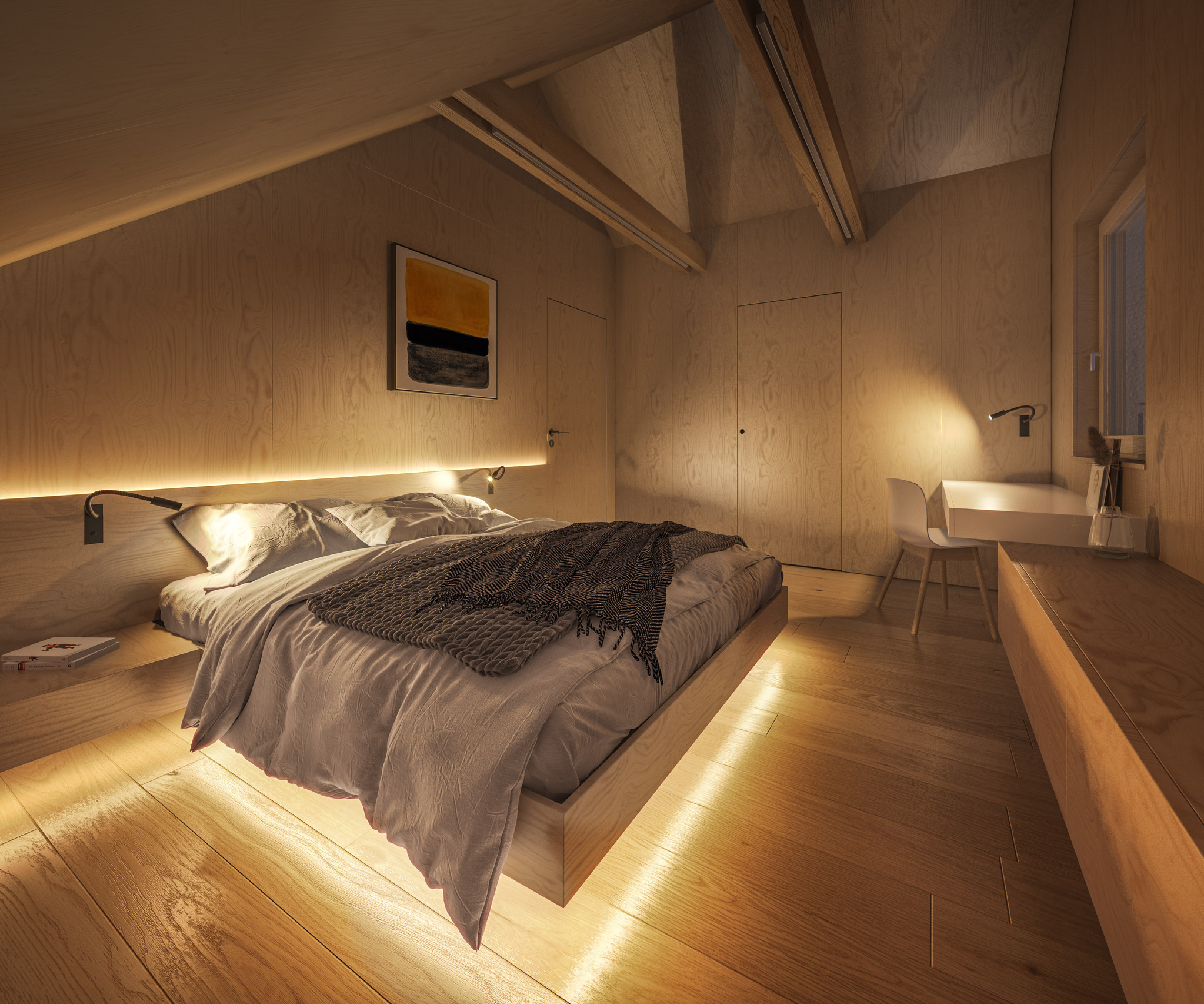 Which light intensity is suitable for which room?