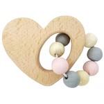Rammelaar hart (naturel/roze)