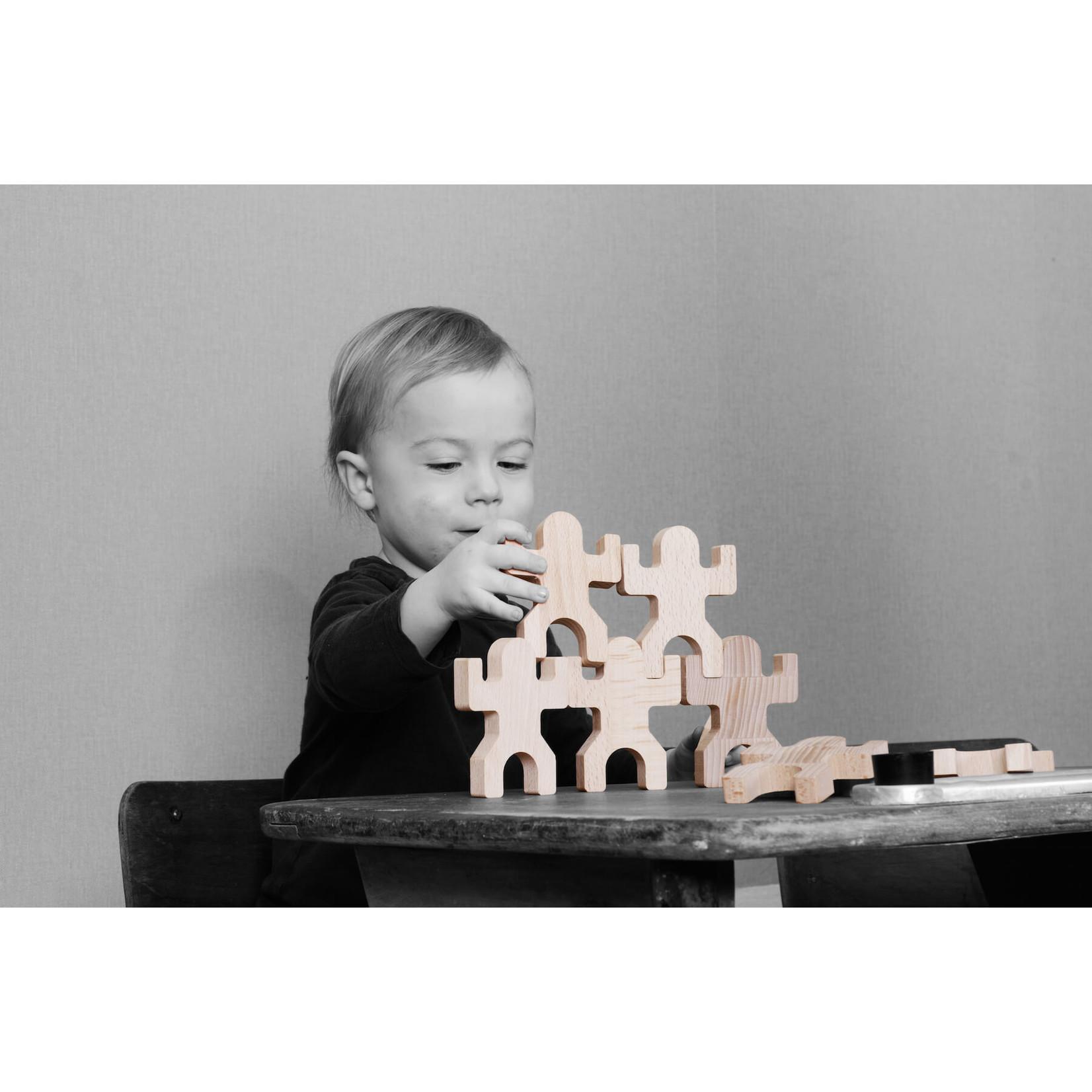 Tiki 40 houten speelfiguren