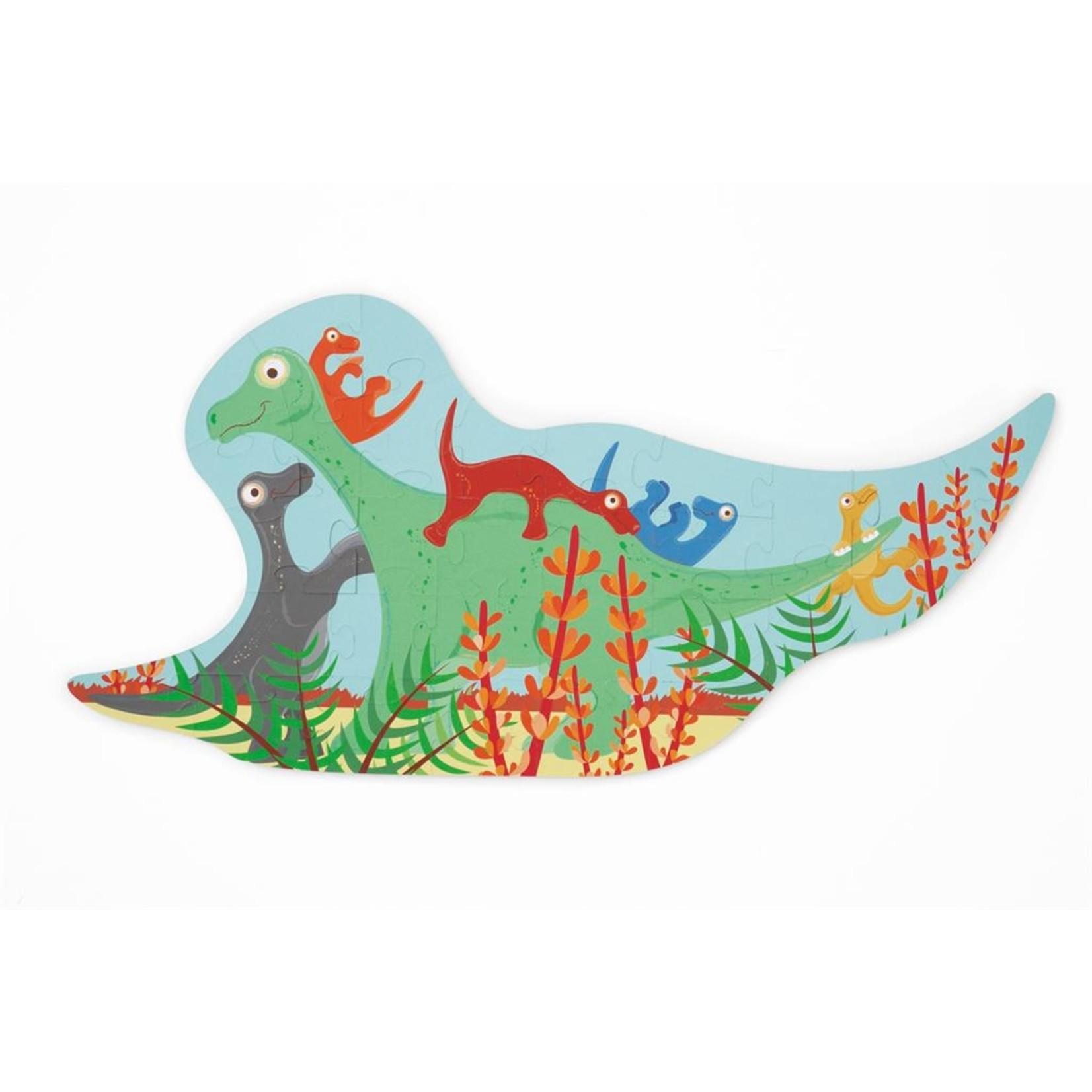Contourpuzzel Dinosauriërs