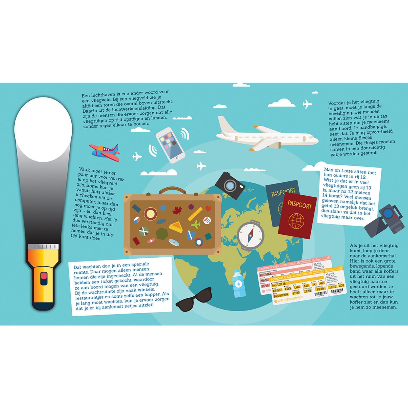 Zaklampboek - Voor het eerst met het vliegtuig