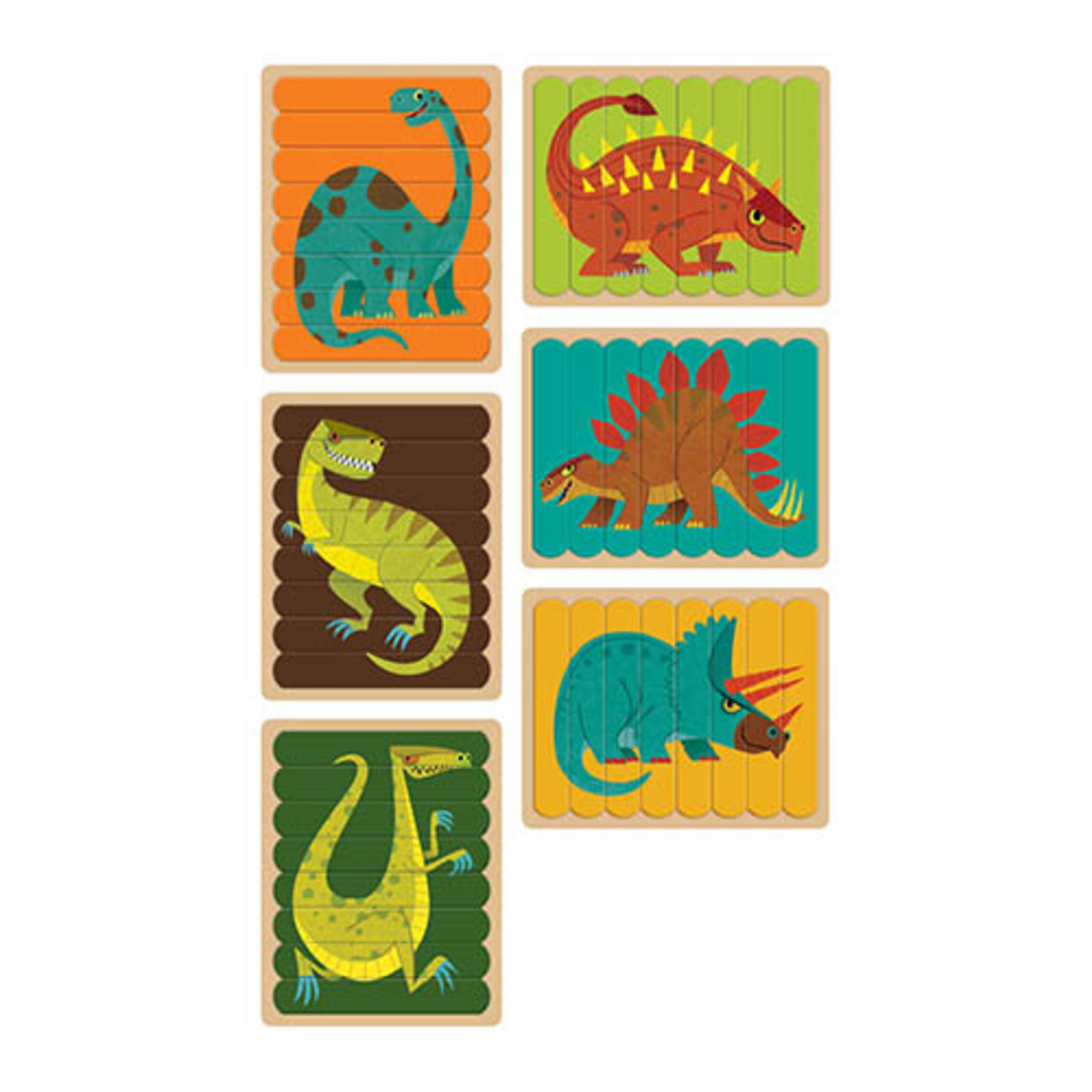 Puzzel Sticks - Dinosaurus