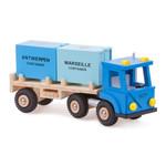 Vrachtwagen met 2 containers