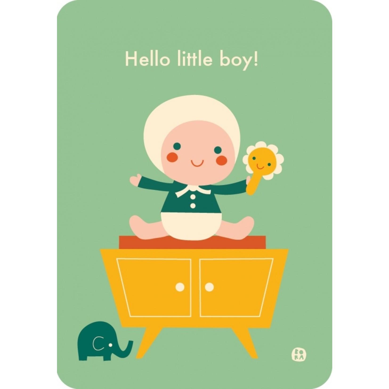 Kaart Hello baby - Little boy