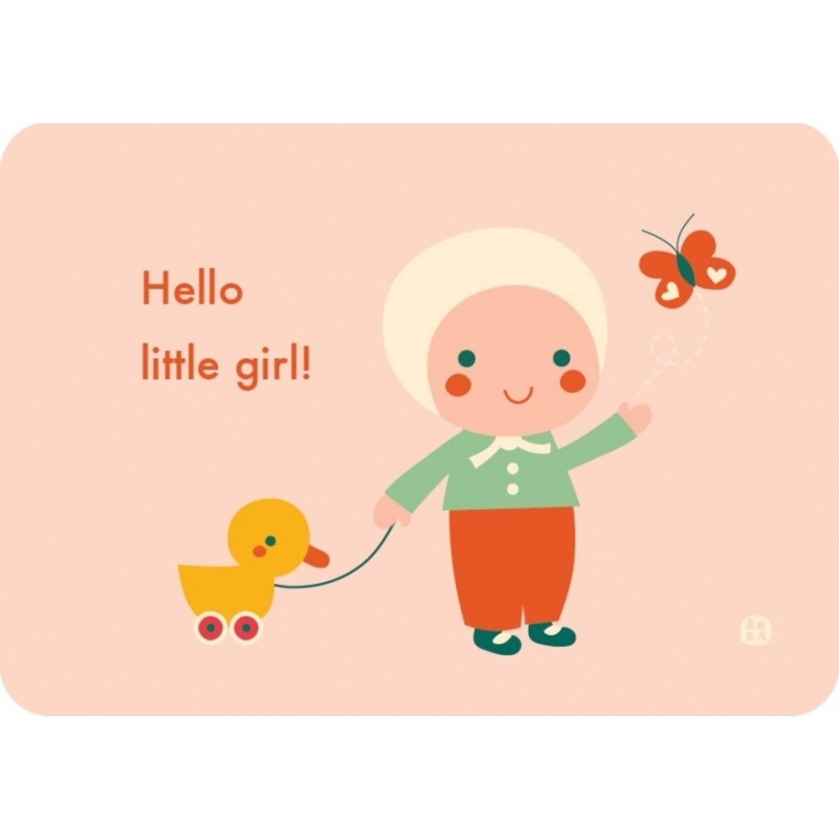 Kaart Hello baby - Little girl