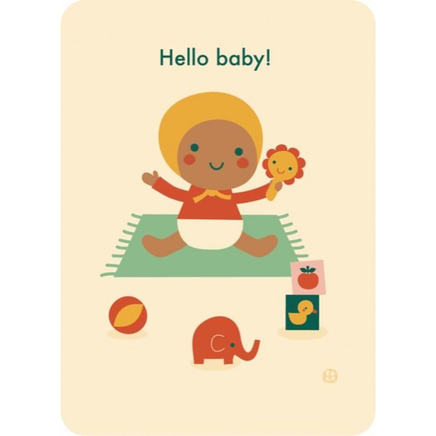 Kaart Hello baby - Playing time