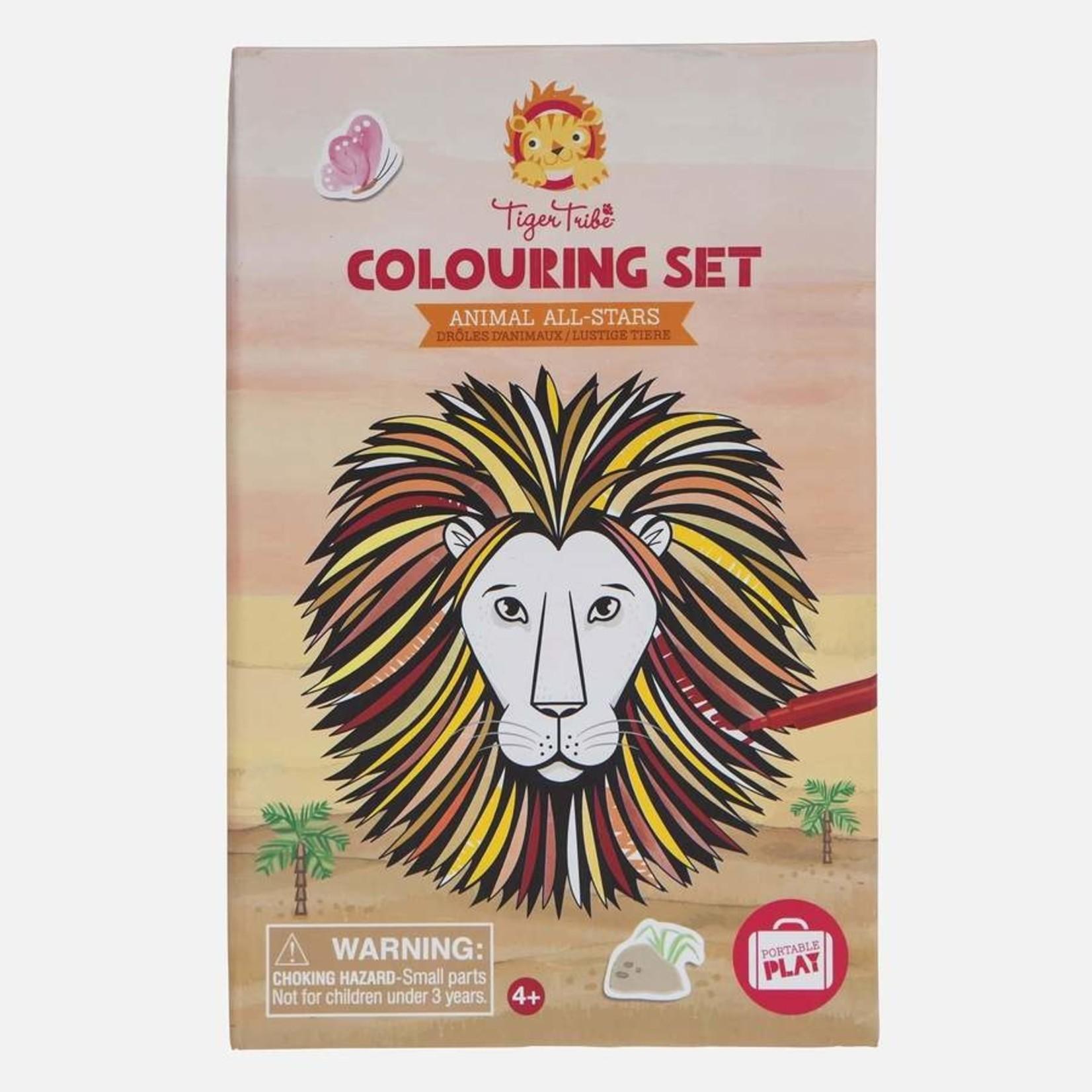 Kleur-en stickerset Animals All