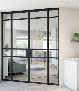 InteriorDoors® Aluminium Dubbele scharnierdeur