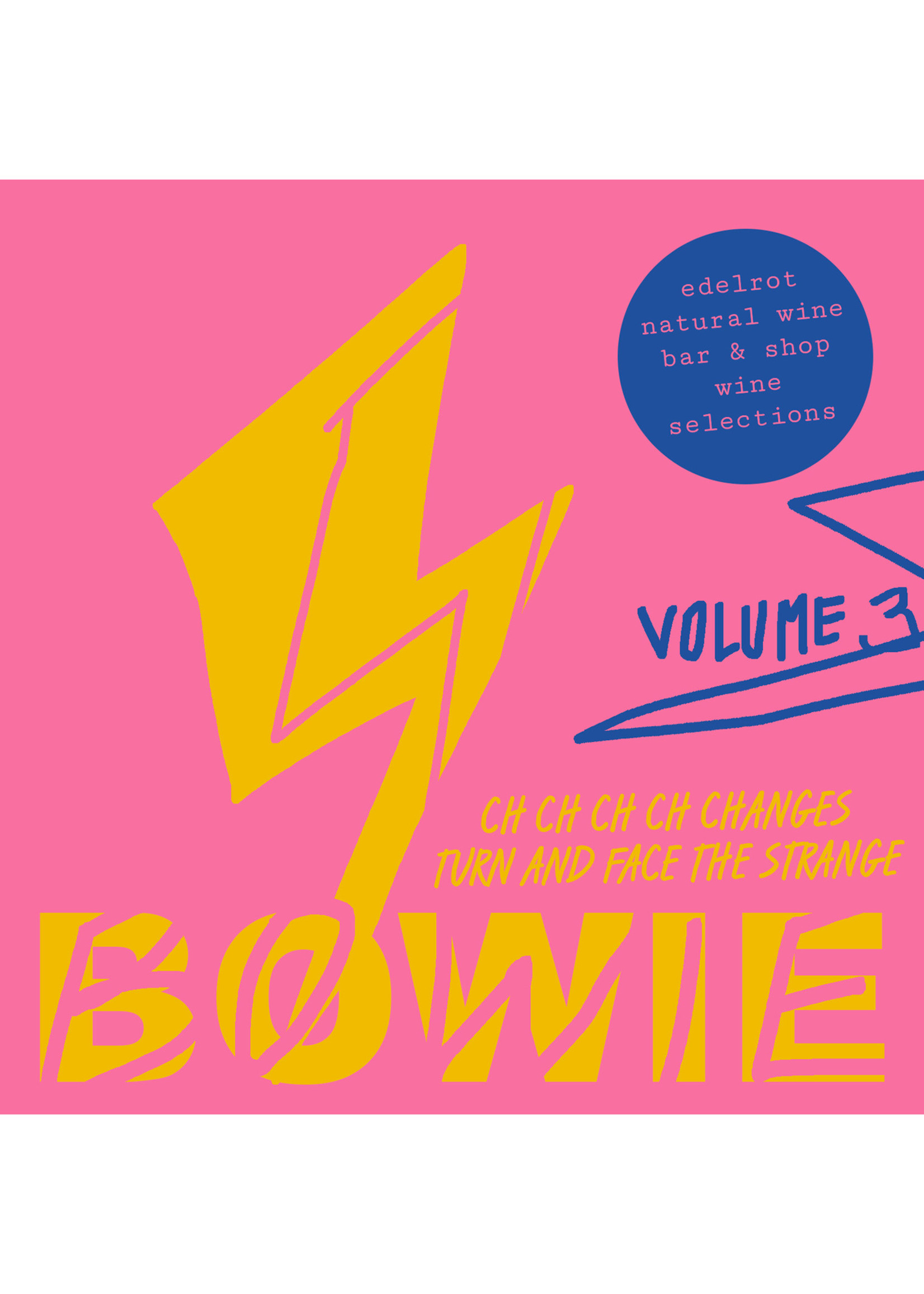 edelrot natural wine selections BOWIE - Volume 3 - wijnselectie
