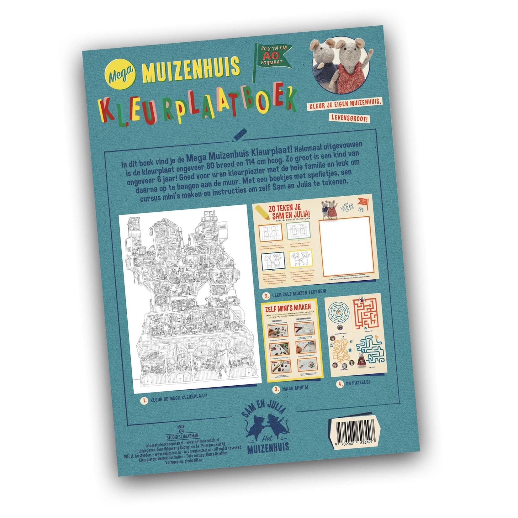 Het Muizenhuis • mega kleurplaatboek