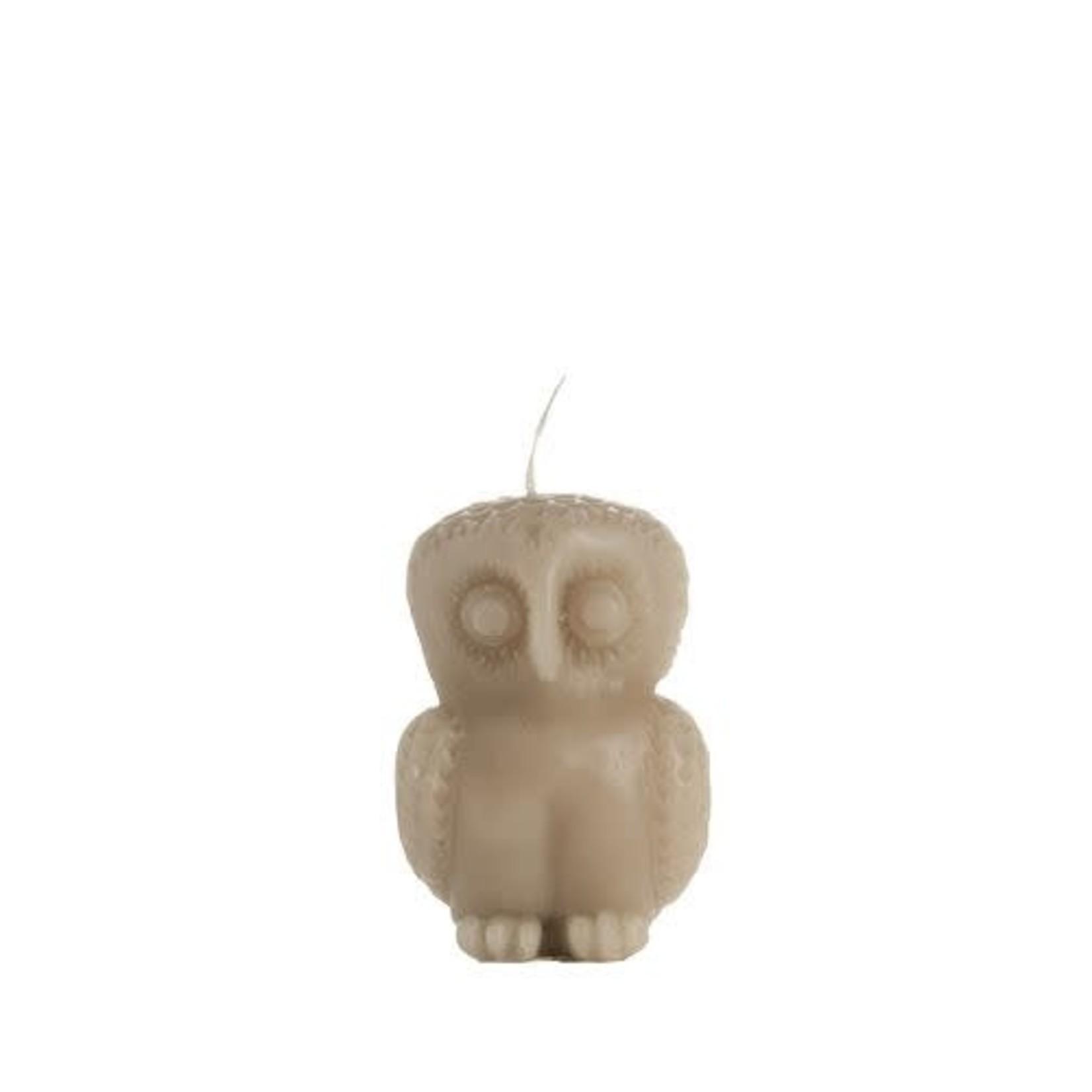 Rustik Lys • figuurkaars kleine uil olifantgrijs