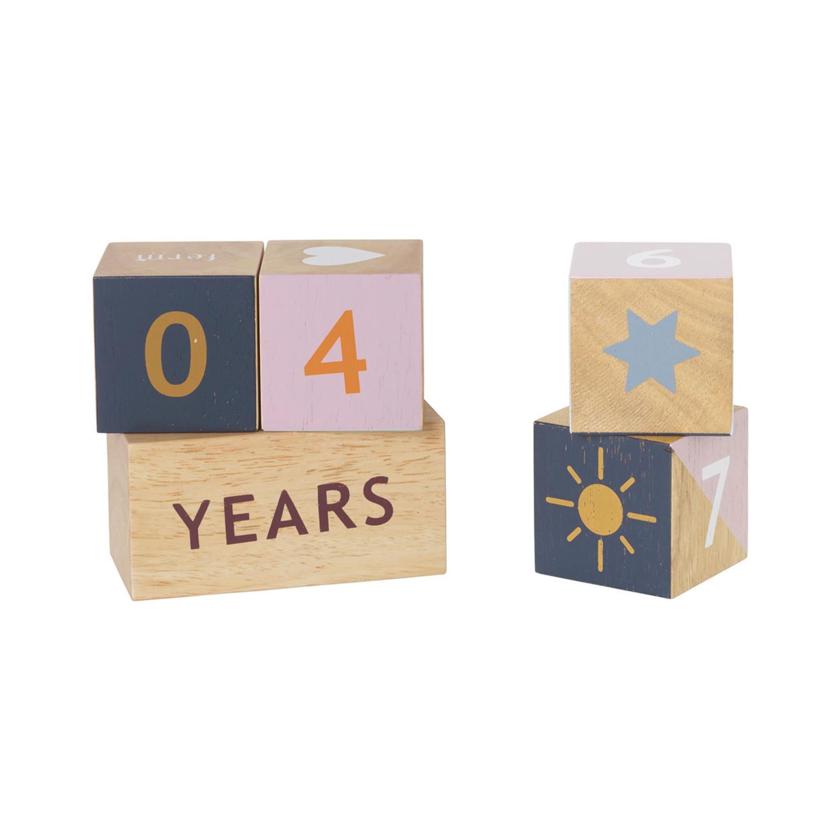 Ferm Living • wooden age blocks
