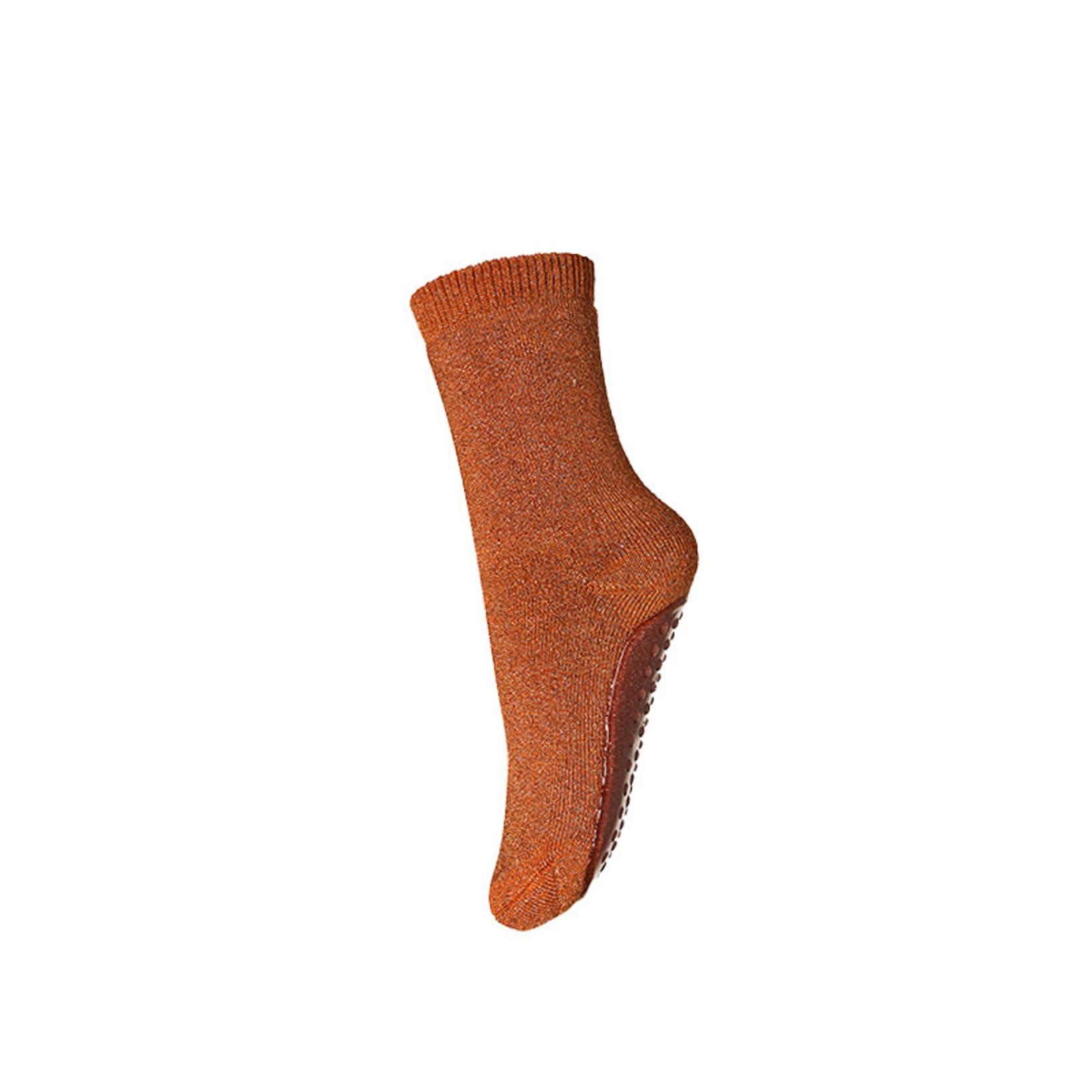 mp Denmark • anti-slip slofjes Celina glitter | copper brown