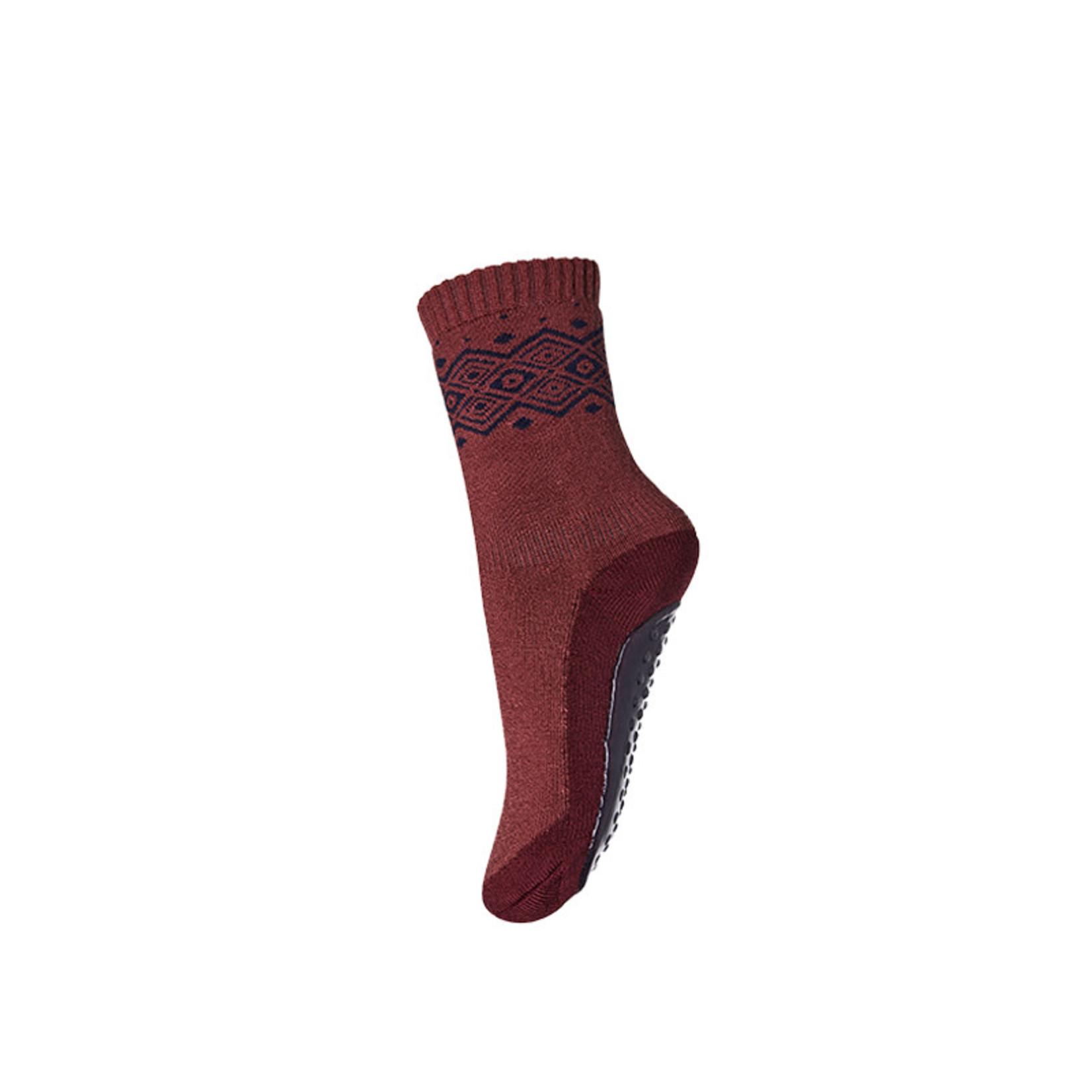 mp Denmark • anti-slip slofjes Bobbie merino | mulberry red