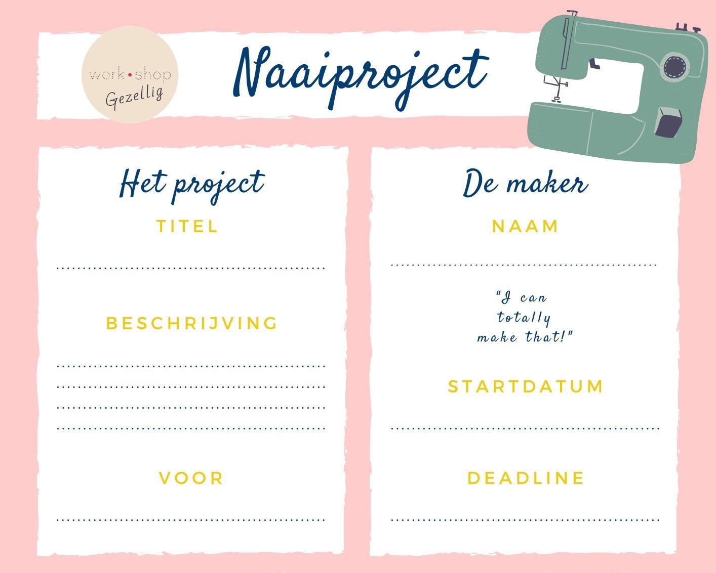 Projectplanner voor je naaiproject (download)
