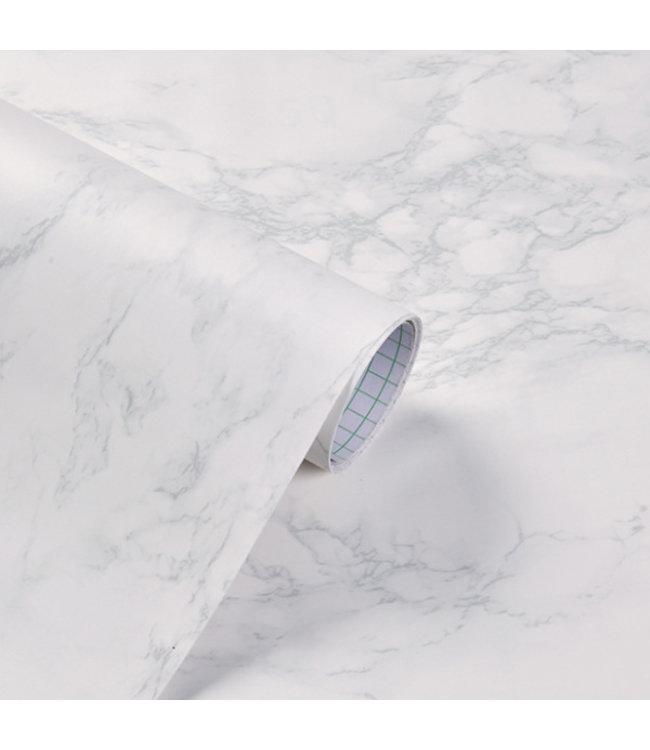 Plakfolie Marmer Mat Wit 60cm B X 1m L Wrapnfoil Nl Wrap N Foil