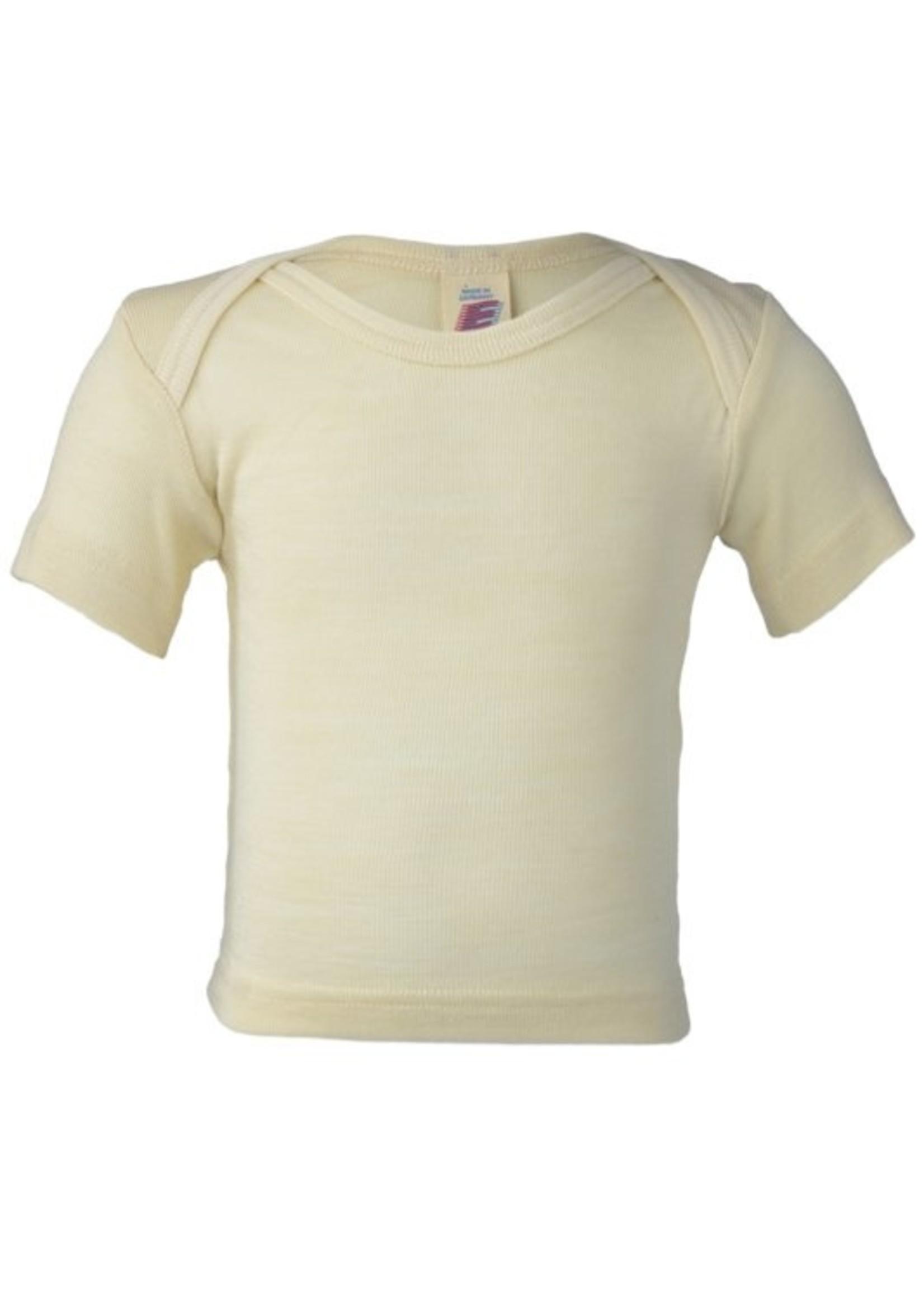 Engel Natur Wol/zijde baby shirt met korte mouw
