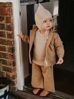 The Simple Folk Laatste Gnome Hat strikmutsje, Oatmeal maat 6-12 maanden