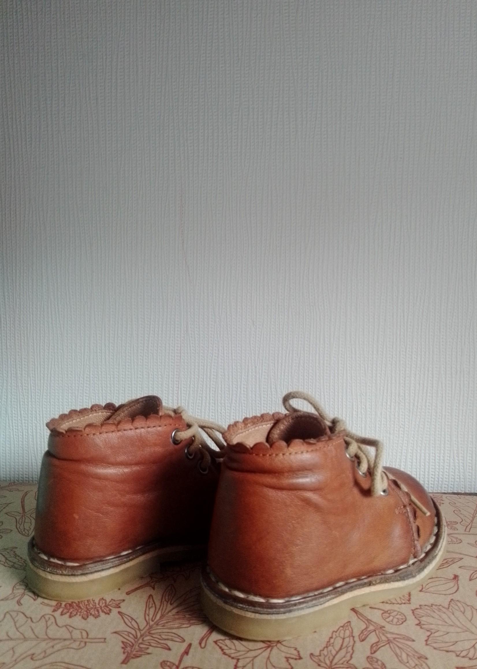 Petit Nord Copenhagen Preloved Scallop boot, Cognac