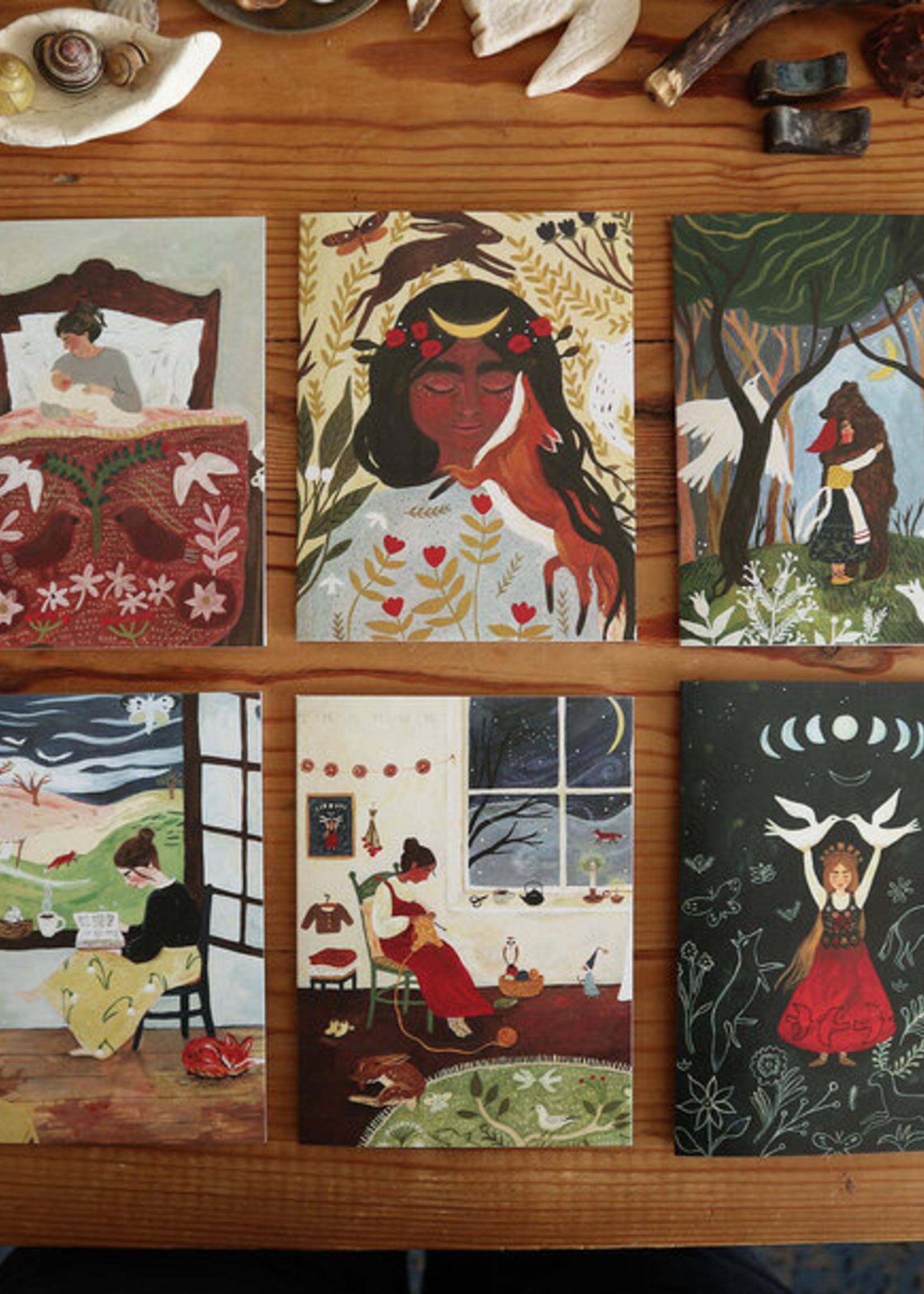 6-pack gevouwen kaarten Tijana Draws