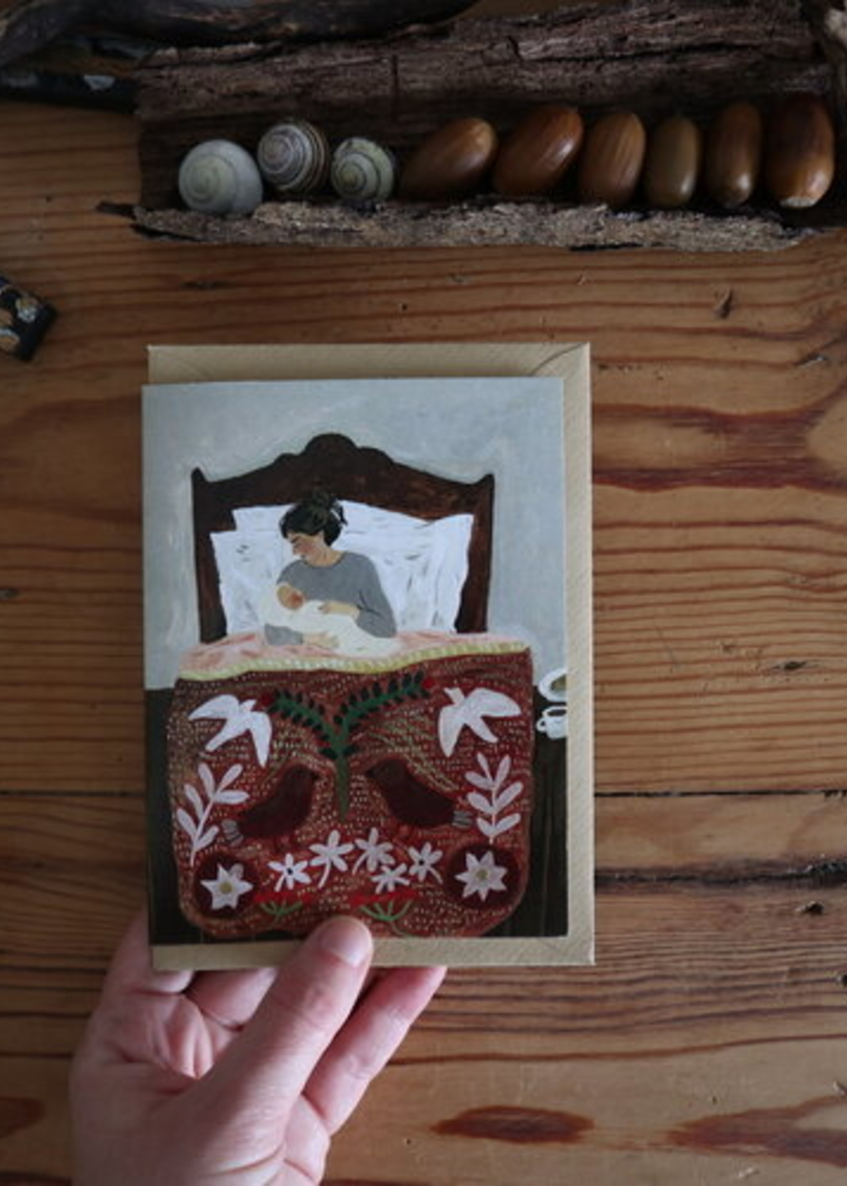 Kaart Gentle beginnings of Motherhood, Tijana Draws