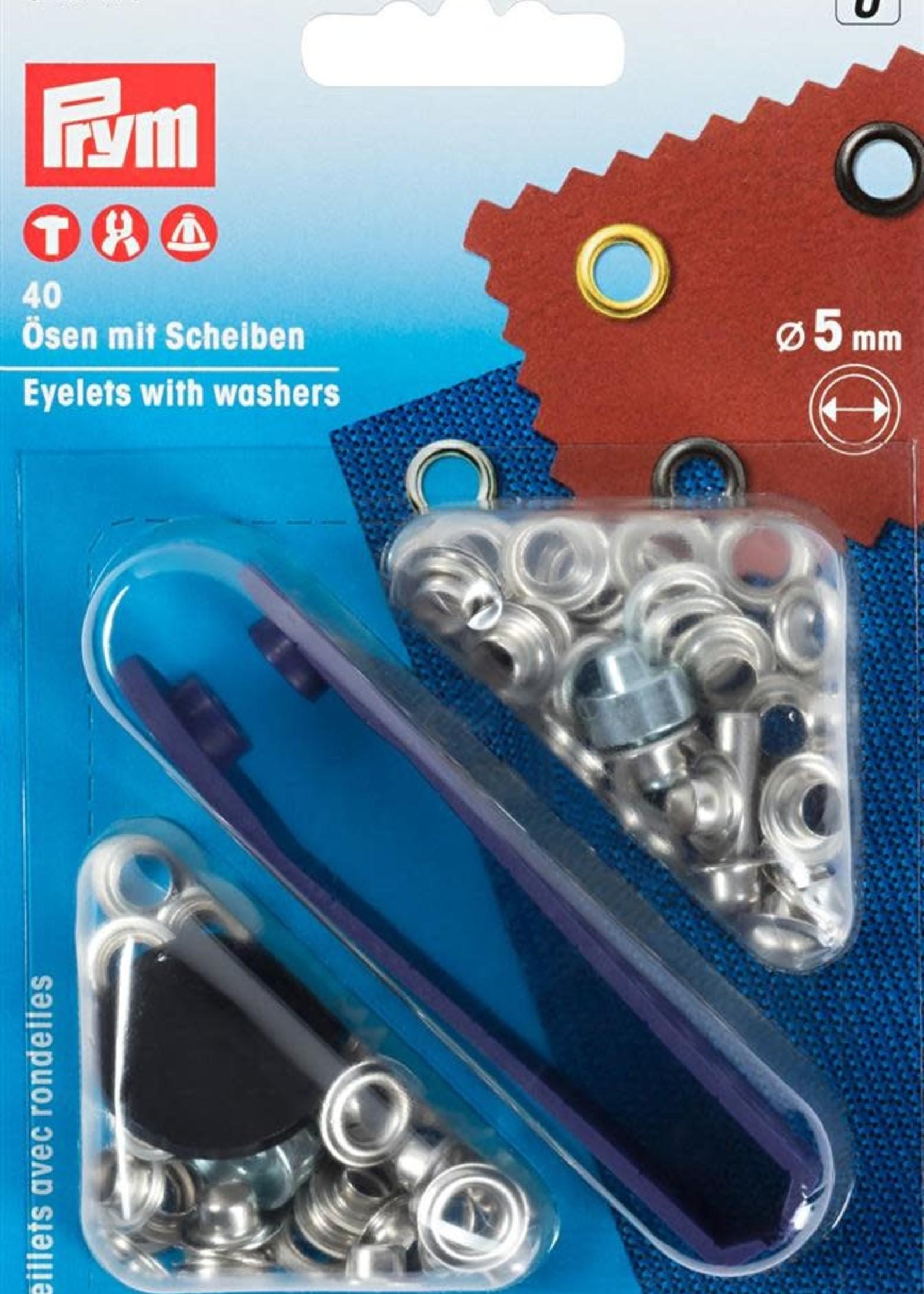 Prym 542410 RINGEN MET SCHIJVEN 5mm ZILVER