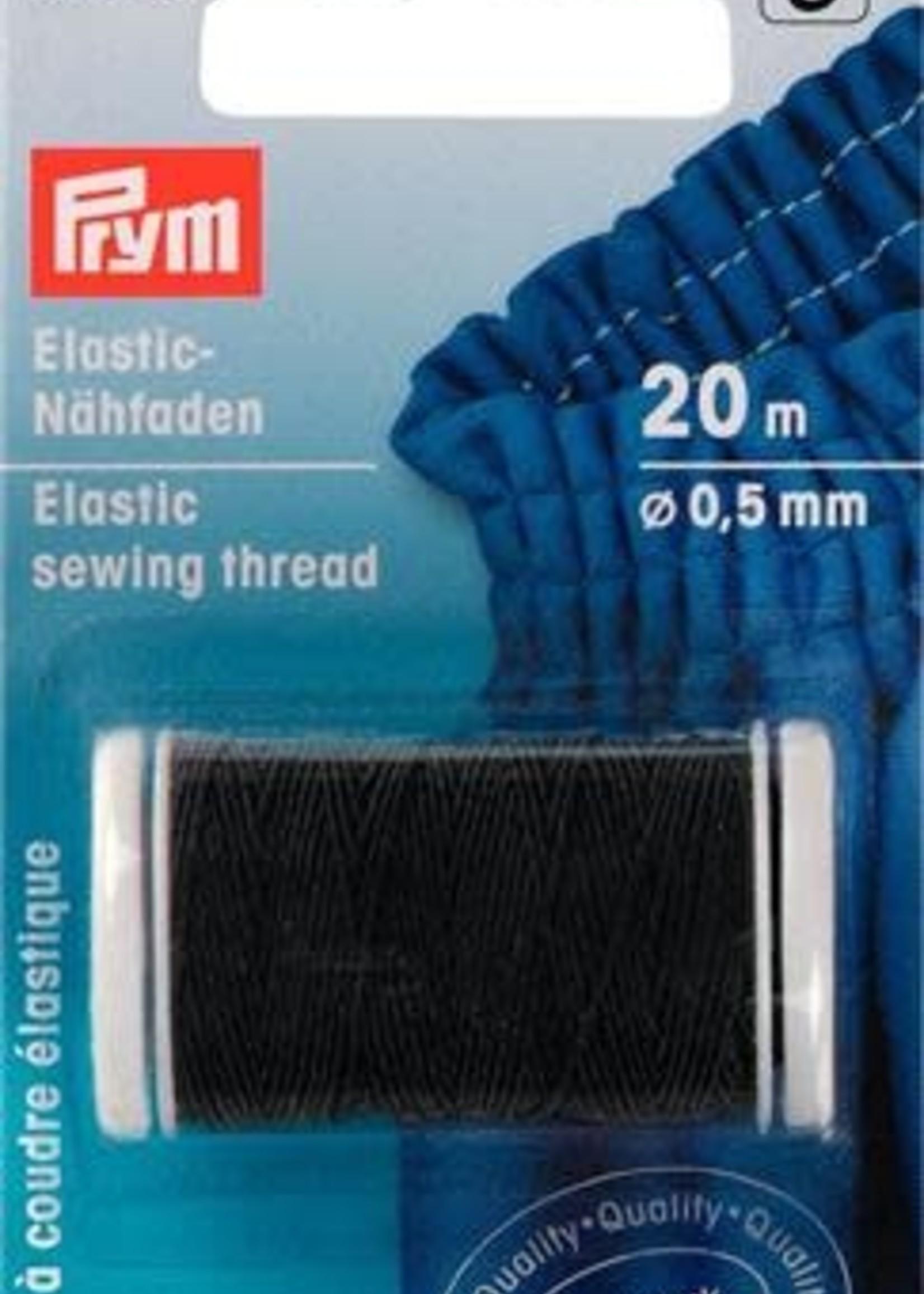Prym 970010 ELASTISCH NAAIGAREN 0,5mm ZWART