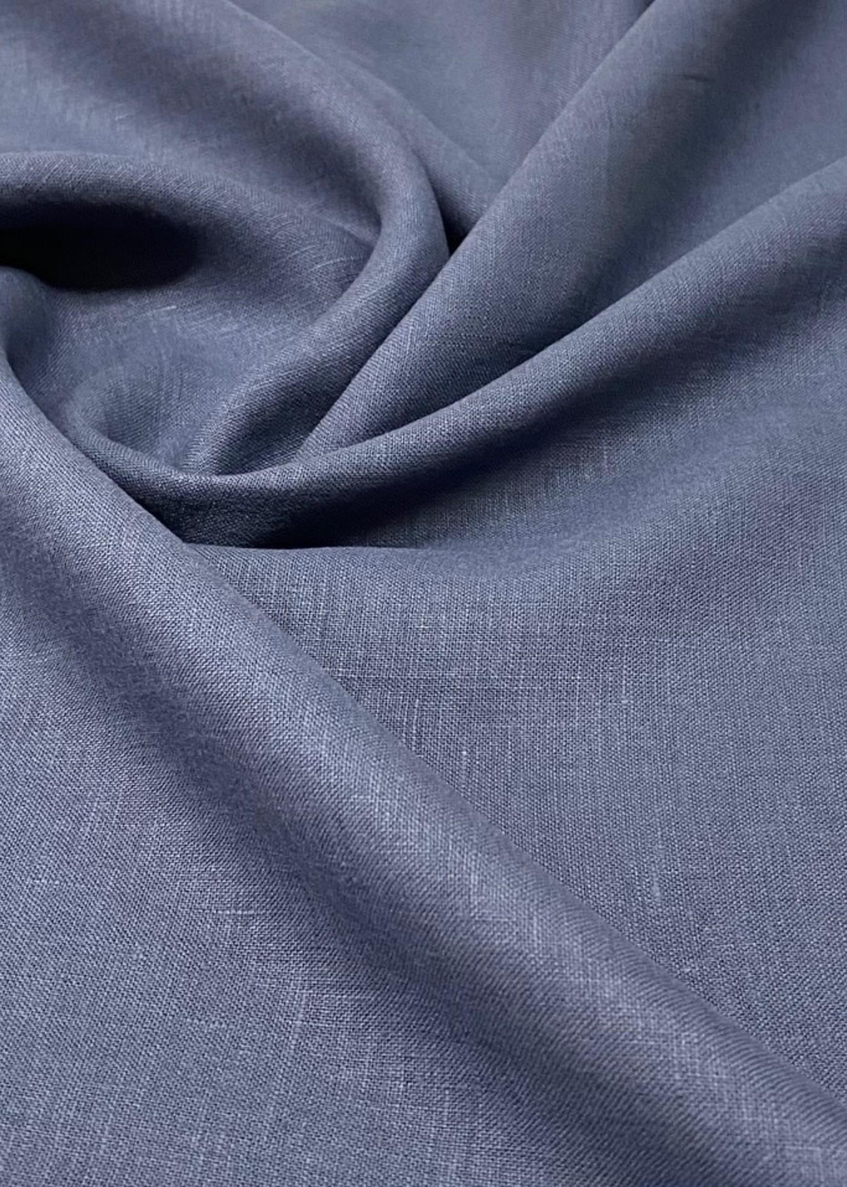 La Maison Victor Coupon80cm UNI 100% Linnen  Donker blauw