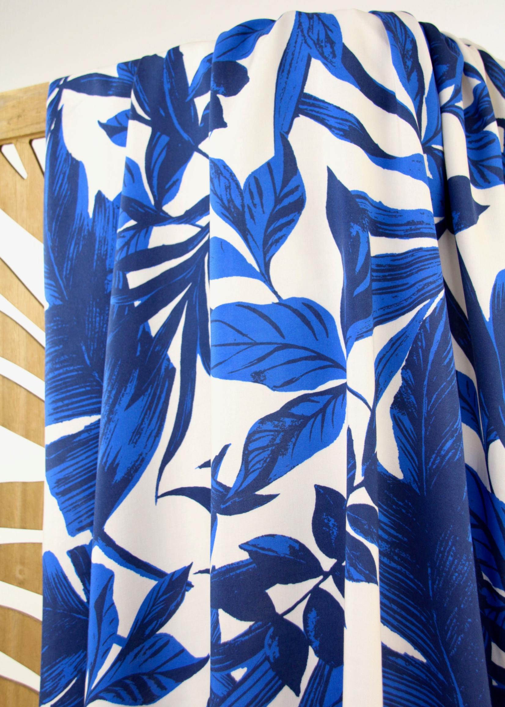 Atelier Jupe LARGE BLUE LEAVES