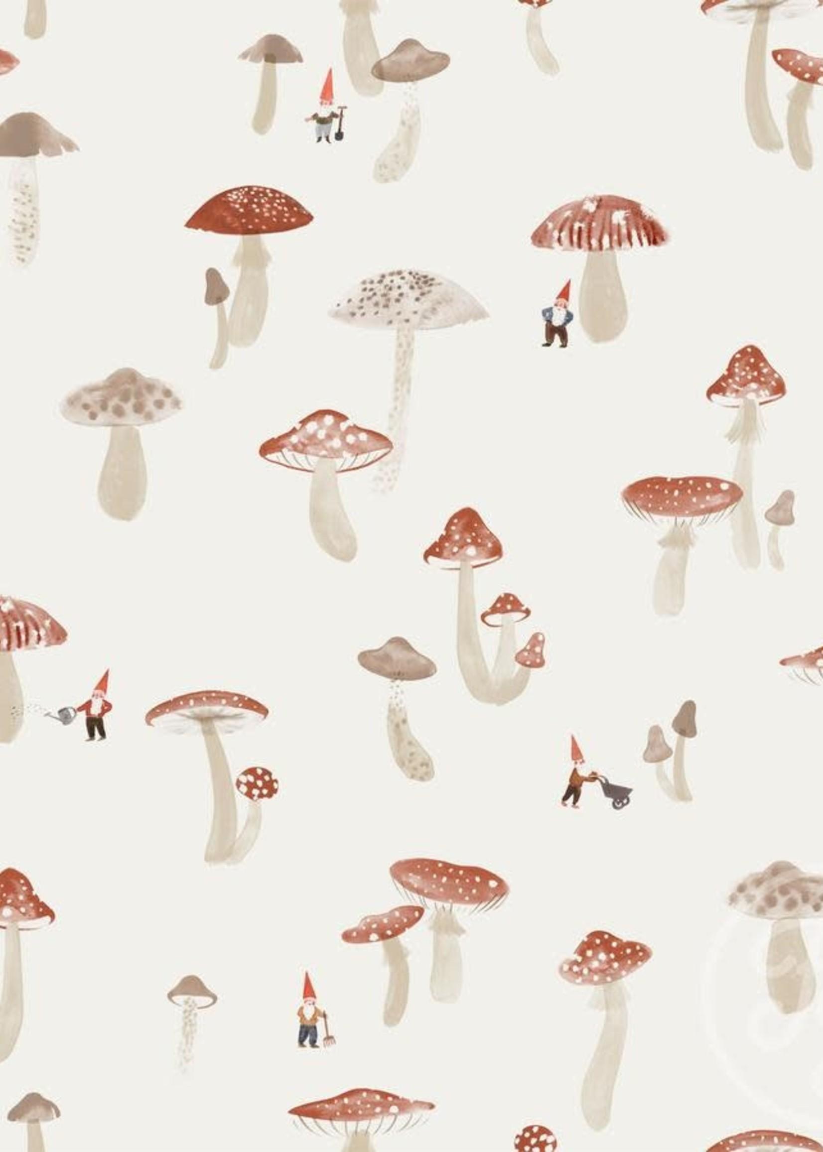 Family Fabrics PADDENSTOELEN & KABOUTERS JERSEY