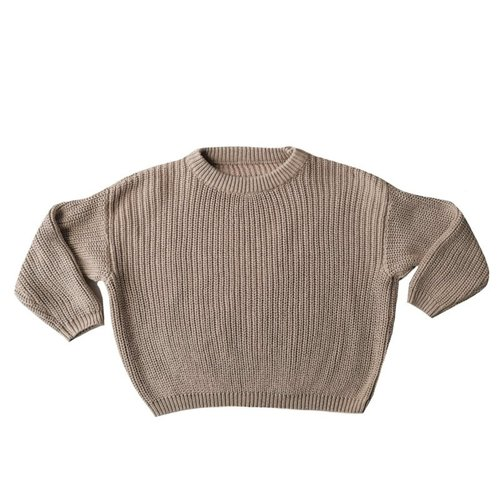 4 baby en kids Knit sweater natural